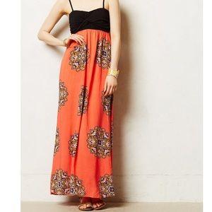 Anthropologie Coral Canyon maxi dress